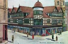 Whitakers Department Store Bolton advertising card Art Deco style Good condition