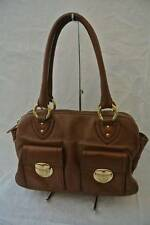 Marc Jacobs Made in Italy Brown Leather Satchel Shoulder Bag Purse