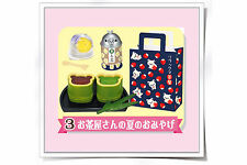 Re-ment Rilakkuma Shiawase Food Market Japanese Food Green Tea set - No.3