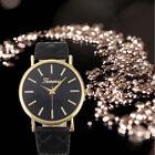 Trendy Women's Wrist Band Watch Casual Geneva Roman Leather Analog Quartz