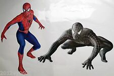 2 X Spiderman 3 Black Pared habitación Boy Decal Sticker 50x30cm