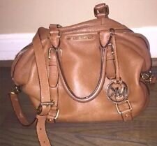 Michael Kors MK Luggage Tan Large Bedford leather purse Satchel With strap