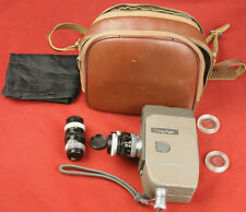 Vintage CANON Eight 8mm Movie Camera - 3 Lenses Strap Case Filters - Works!