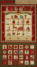 Christmas Fabric Advent Calendar - Christmas Dresser Panel 100% Cotton