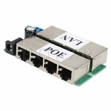 650 ma 4 Port POE Power Over Ethernet Injector For IP Camera CAT-7 CAT-5 CAT-6