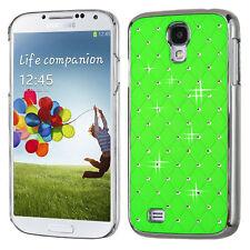Samsung Galaxy S4 S IV Alloy Chrome Dazzling Diamond HARD Case Phone Cover Green