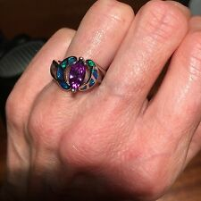 25 Wholesale Costume jewellery simulated amethyst/opal genuine silver rings