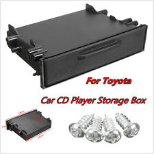 For Toyota Dash Trim Single Din CD Player Radio Stereo Pocket Kit Storage Box