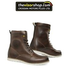 "Rev'it ""MOHAWK"" Urban Motorcycle Leather Touring Boots - BROWN - EU 44 / UK 9.5"