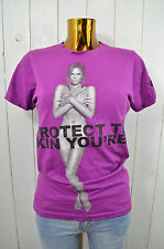 MARC JACOBS Damen T-Shirt Charity PROTECT THE SKIN YOU'RE IN Victoria Beckham S