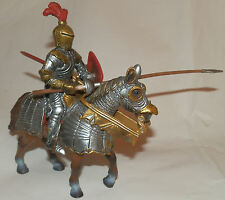 Schleich #70017 Red Fleur De Lis Knight with Lance on Horse back