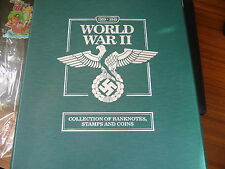 WORLD WAR II COLLECTION OF BANKNOTES,STAMPS AND COINS