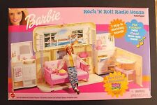 RARE BARBIE - ROCK N ROLL RADIO HOUSE - 2000 RADIO BOOMBOX PLAYSET  NEW IN BOX