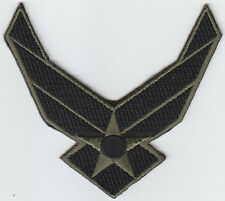 US Air Force WINGS LOGO II 2 OD GREEN/BLACK Patch United States USAF USA