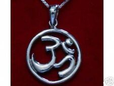 LOOK HINDU OM Sterling Silver PENDANT Charm Jewelry DETAILED