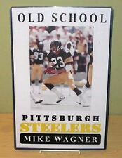 "MIKE WAGNER ""Old School Pittsburgh Steelers"" Poster"