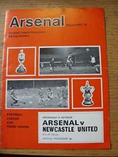06/10/1971 Arsenal v Newcastle United [Football League Cup] (token removed, team