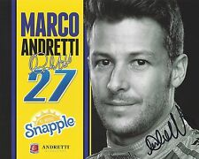 2015 St Pete Grand Prix Indy Car MARCO ANDRETTI Hero Card SIGNED