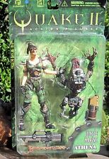 1998 ReSaurus Quake II Action Figure Jungle Marine Athena W/Strogg Parasite  MOC