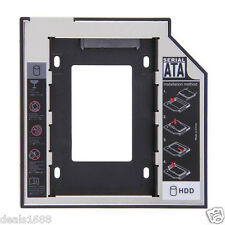 SATA SSD 2nd HDD Hard disk chassis Adattatore Per CD/DVD-ROM Ottico Bay SATAII