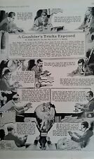 APRIL 1924 MAGAZINE PAGE #619- A GAMBLER'S TRICKS EXPOSED- BY MARK MELLEN