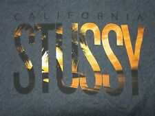 STUSSY WOMENS CALIFORNIA PALMS GRAPHIC GRAY RACERBACK TANK TOP SHIRT SIZE XS NEW