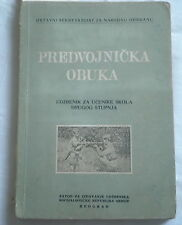 Yugoslavia army JNA military training book,grenade,parachute,M53,M48,gas mask