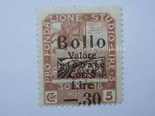 VECCHIA MARCA DA BOLLO posta Fiume 1918 SOVRASTAMPA lire 5  30