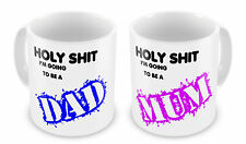 Holy Sh*t I'm Going To Be A Mum/Dad Novelty Pair Gift Mug