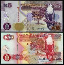 2003-2012 ZAMBIA 5-50 KWACHA UNC Notes