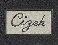 PAIR of New Logo Plates Labels Badges for CIZEK HTA Speakers