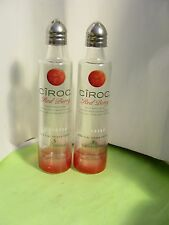 Pair CIROC RED BERRY Vodka Mini 50ml Bottles UpCycled SALT & PEPPER Shakers