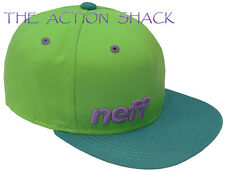 J5 - Neff Daily Hat / Cap * NWT One Size Snapback Slime / Teal / Purple - #19839