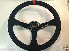 Ralliart Style 350mm Suede Leather Deep Dish Steering Wheel OMP MOMO EVO 6 7 8 9