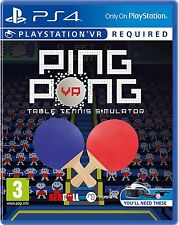 Ping Pong (PSVR) [PlayStation 4 PS4, Region Free, PSVR Required, Table Tennis]