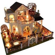 3D LED Miniature Maison de Poupée Barbie Dollhouse Lumineuse à 3 Etages Villa