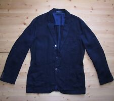 Polo Ralph Lauren Tailored Fit  Linen Sports  Coat in Size 46L in Navy Blue
