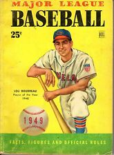1949 Dell Major League Baseball,Facts Figures,Lou Boudreau, Cleveland Indians~Fr