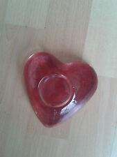 toller Teelichthalter von Leonardo, rot, Herz, Kerze