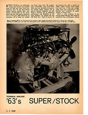 1963 SUPER-STOCK HIGH-PERFORMANCE ENGINES ~ RARE ORIGINAL 5-PAGE ARTICLE