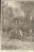 CHINA CHINE PEKIN BEIJING JARDIN DU SEMINAIRE IMAGE GRAVURE 1884