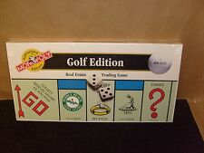 RETIRED NEW FACTORY SEALED 2000 MONOPOLY GOLF EDITION HTF NEW GAME SET