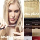 One Piece Clip In Remy Real 100% Human Hair Extensions 3/4 Full Head Deluxe P508