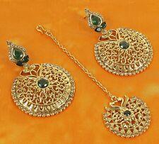 10206 Traditional Ethnic Maang Tikka Earring Set Bollywood Indian Jewelry Set