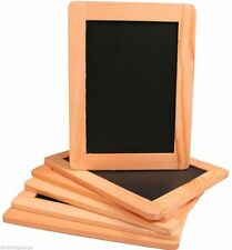 MINI CHALKBOARD NATURAL ROCK SLATE BLACKBOARD 26cm x 18cm Double Sided