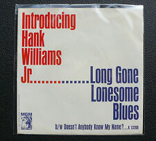 "7"" Hank Williams Jr. - Long Gone Lonesome Blues - US MGM w/ Pic"