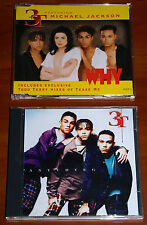 MICHAEL JACKSON 3T 2x CD SINGLE Lot WHY & ANYTHING RMX *RARE* MJJ PRESS 1996 LTD