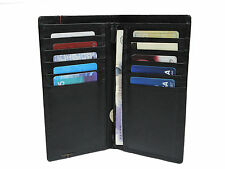 MENS LUXURY HIGH QUALITY REAL LEATHER LONG WALLET BUSINESS ID/CREDIT CARD HOLDER