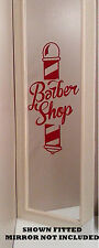 "LARGE TRADITIONAL BARBER SHOP POLE CUT VINYL WINDOW STICKER SIGN 18"" X 11"""