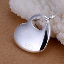XMAS wholesale sterling solid sliver fashion heart  charm Pendant SP148
